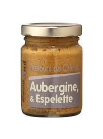 Aubergine VELOURS DE CREME AUBERGINE ESPELETTE PETIT FORMAT